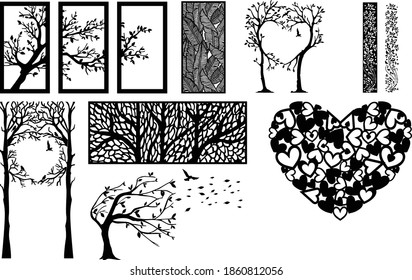 Exclusive Ornamental Elements 3D models and vector files. | cnc file, laser cutting file | Dxf, Svg, Max, Cdr, Eps, FBX, AI, 3DS | Set 100 |