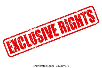 EXCLUSIVE RIGHTS red stamp text on white