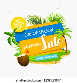 Exclusive Summer Sale Discount Offers Abstract Vector Background Design