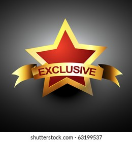 exclusive vector icon in golden color