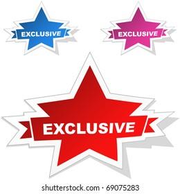 Exclusive vector stickers.
