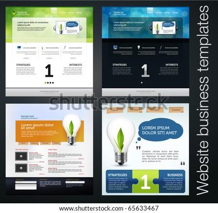Exclusive website business templates set 5 stock vector royalty exclusive website business templates set 5 maxwellsz