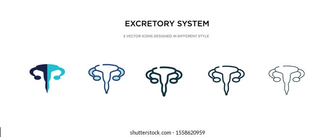 excretory system icon in different style vector illustration. two colored and black excretory system vector icons designed in filled, outline, line and stroke style can be used for web, mobile, ui