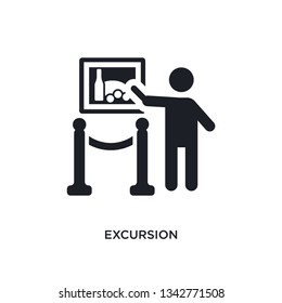 excursion isolated icon. simple element illustration from museum concept icons. excursion editable logo sign symbol design on white background. can be use for web and mobile