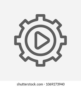 Execution icon line symbol. Isolated vector illustration of  icon sign concept for your web site mobile app logo UI design.