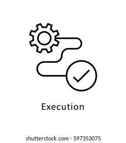 Execution Vector line Icon