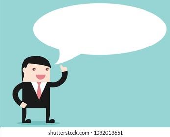 Executive businessman thinking. Flat design for business financial marketing concept cartoon illustration.
