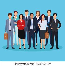 executive men cartoon