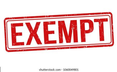 Exempt grunge rubber stamp on white background, vector illustration