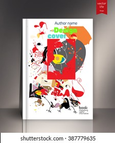Exercise book cover, Layout book cover. Design Cover for exercise book. Colored exercise book cover. Book cover  design. Cover design for the exercise book, ebook, datebook, book. Sample book cover.
