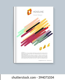 exercise book cover layout design for colored the ebook datebook sample