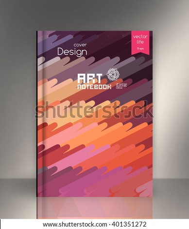 exercise book cover layout book cover stock vector royalty free