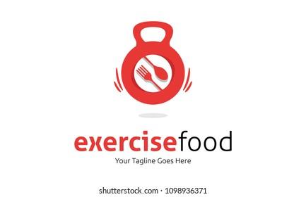 exercise food logo