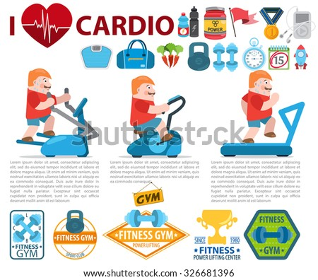 Exercise Machines Set And Cardio Workout Elements I Love