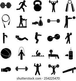 exercise symbols set