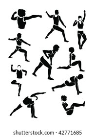 exercising figures