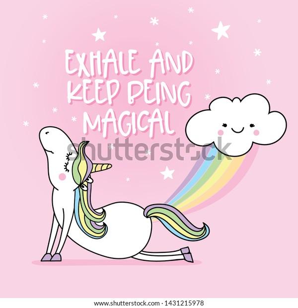 Vector De Stock Libre De Regalías Sobre Exhale Keep Being