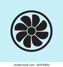 Exhaust fan icon. Ventilator symbol.