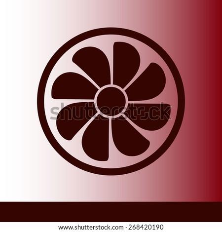 Exhaust Fan Icon Ventilator Symbol Stock Vector Royalty Free