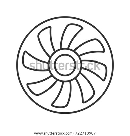 Exhaust Fan Linear Icon Thin Line Stock Vector Royalty Free