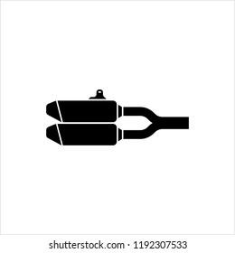 Exhaust Icon, Auto Exhaust Icon Vector Art Illustration