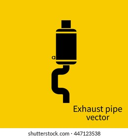 Exhaust pipe icon of the car on a background of isolation. Vector illustration flat design. Pictogram pipe. Spare parts for car.