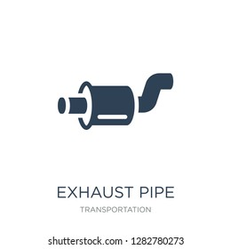 exhaust pipe icon vector on white background, exhaust pipe trendy filled icons from Transportation collection, exhaust pipe vector illustration