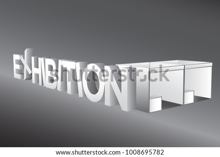 Exhibition Booth Icon : Exhibition big letters booth standard icon stock vector royalty