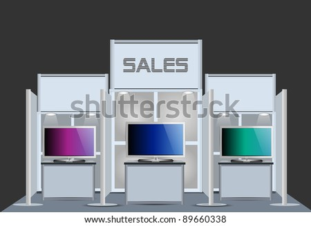Exhibition Stand For Sale : Exhibition sale tv stand stock vector royalty free