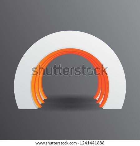 Small Exhibition Stand Mockup : Exhibition stand gate entrance vector mock stock vector royalty