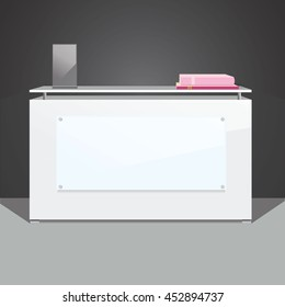 Exhibition stand, reception desk