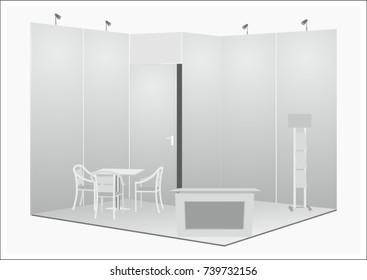Exhibition Stall Sketch : Trade exhibition booth illustration sketch trade stock vector