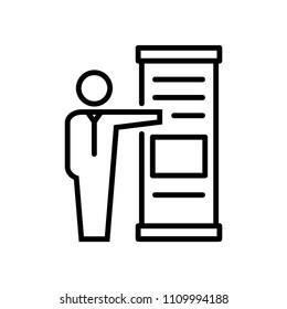 Exhibitor icon, vector illustration