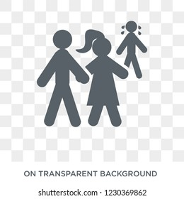 ex-husband icon. Trendy flat vector ex-husband icon on transparent background from family relations collection. High quality filled ex-husband symbol use for web and mobile