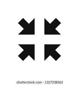 Exit Full screen arrows icon, Minimize symbol