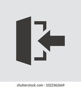 exit icon isolated of flat style. Vector illustration.