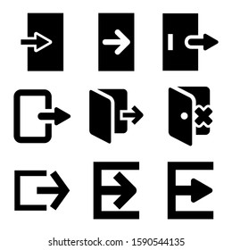exit icon isolated sign symbol vector illustration - Collection of high quality black style vector icons