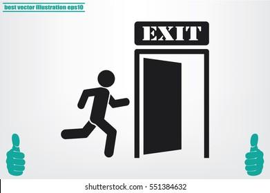 exit icon vector illustration .