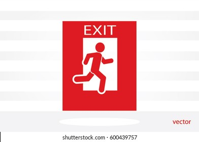 exit icon vector illustration eps10.