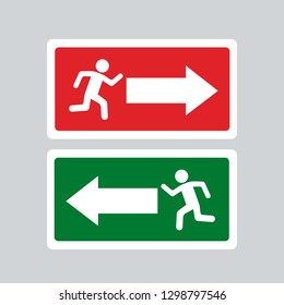 exit sign all conditions in flatb design
