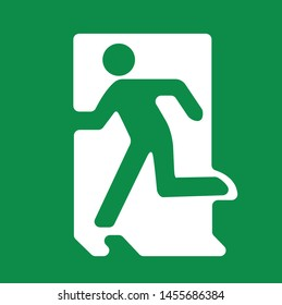 exit sign here, fire safety, vector illustration