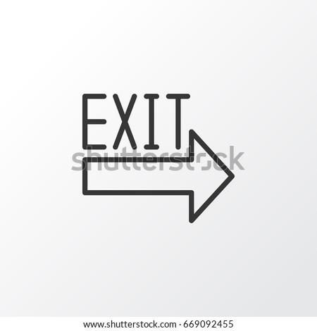 Exit Sign Icon Symbol Premium Quality Stock Vector Royalty Free