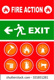 Exit sign. vector illustration