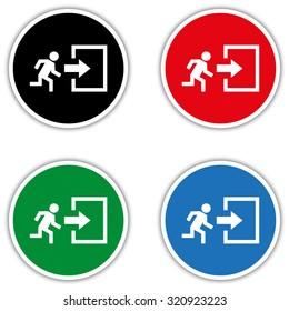 exit - vector icon