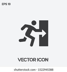 """""""Exit"""" vector icon illustration. Ui/Ux. Premium quality."""