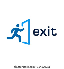 Exit  vector icon for web and mobile