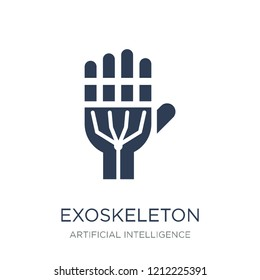 Exoskeleton icon. Trendy flat vector Exoskeleton icon on white background from Artificial Intelligence, Future Technology collection, vector illustration can be use for web and mobile, eps10