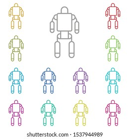 Exoskeleton, robot, space multi color icon. Simple thin line, outline vector of space icons for ui and ux, website or mobile application