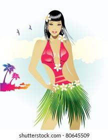 Exotic beauty/Hawaiian girl