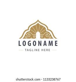Exotic and Elegant Heaven Door in Asian Style Logo Template Design